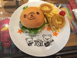 リラックマカフェ2015まくまくハンバーガー画像