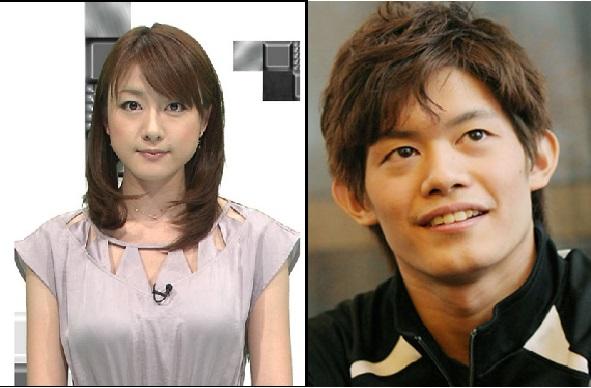 小塚選手と大島アナ
