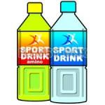 猛暑日のスポーツ、運動する人の水分補給。間違った水分補給