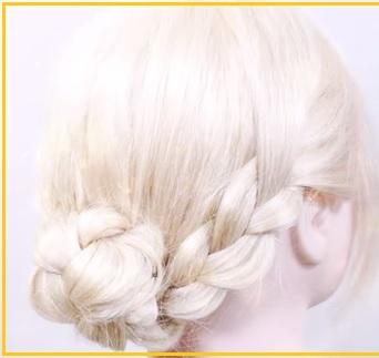 男ウケする浴衣に似合う髪型ロング三つ編み画像