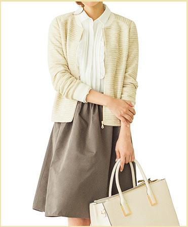 清楚でかわいいプチプラ通販OL服-フェリシモ