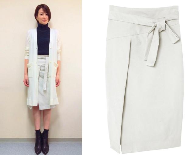 オトナ女子-ファッション-.吉瀬美智子タイトスリットスカート