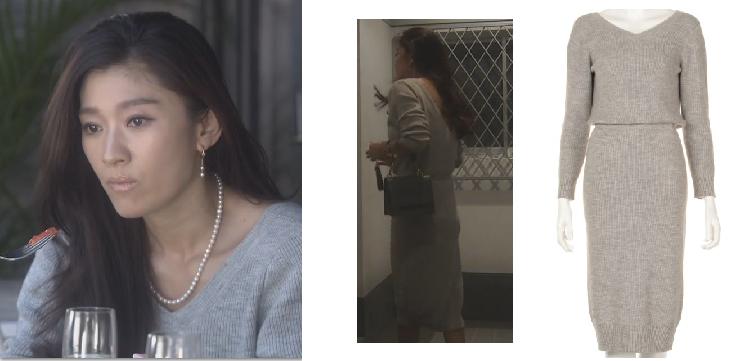 オトナ女子-篠原涼子-着用ニットワンピ画像