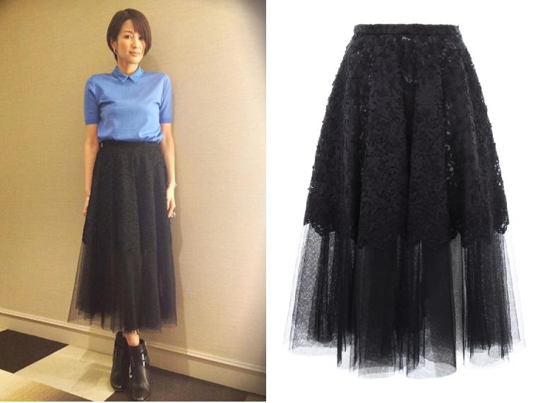 オトナ女子-吉瀬美智子-ファッション-スカート