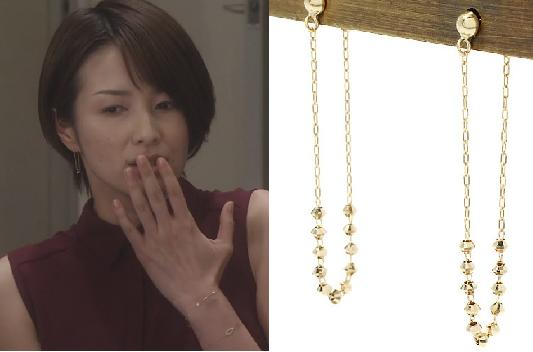 オトナ女子-吉瀬美智子着用-アーカーのミモザピアス画像