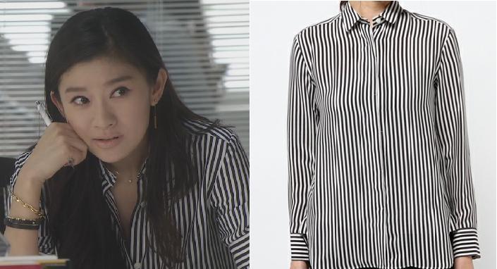 オトナ女子-篠原涼子-2話の服-ストライプシャツ