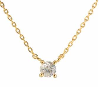 プチプラの一粒ダイヤのネックレス-画像