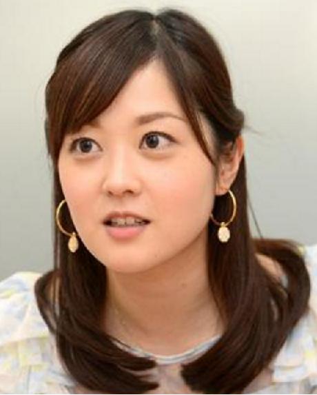水卜麻美アナ-髪型-ハーフアップストレート画像