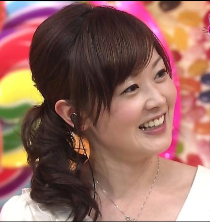 水卜麻美アナ-髪型-サイドまとめ画像