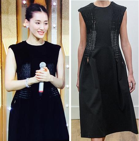 綾瀬はるか-2015年紅白着用黒のワンピ-画像