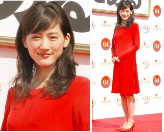 綾瀬はるか-紅白司会-記者会見の衣装-画像