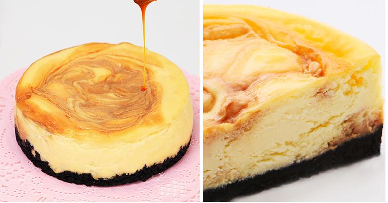 ホームパーティーの手土産にオススメのスイーツ-NYチーズケーキ・塩キャラメル画像