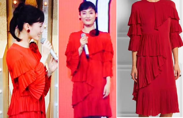 綾瀬はるか-2015年紅白着用グッチの衣装-画像