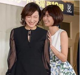 ショートヘアが似合う広末涼子と内田有紀-画像