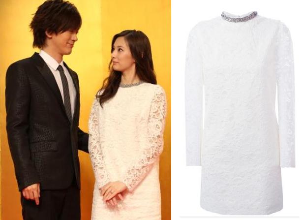 北川景子-結婚会見着用白のワンピ-画像