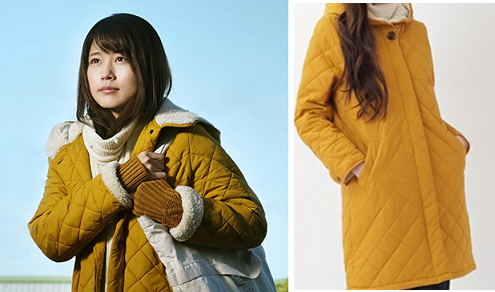 有村架純-ドラマ「いつかこの恋」-着用衣装-コート-画像