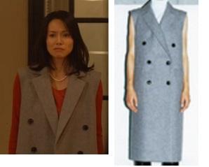 中谷美紀-ドラマ衣装-ロングベスト-私結婚できないんじゃなくて1話-画像