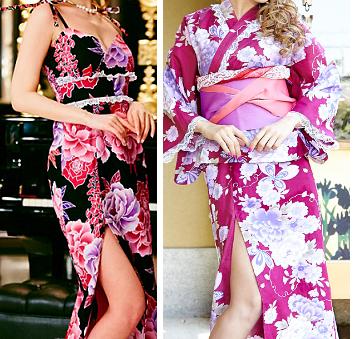 キャバ嬢にもおすすめ華やか浴衣ドレス-画像