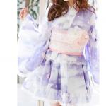 浴衣通販 着付けや髪型も簡単なミニ丈ドレスが可愛い!浴衣デー必見!