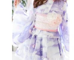 ミニ丈浴衣ドレス-画像