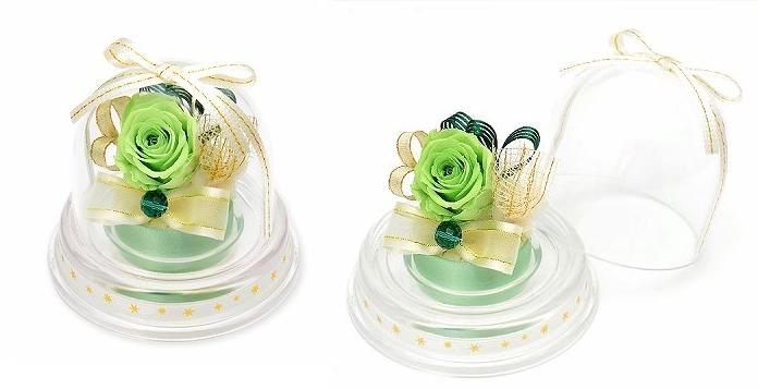 プレゼント用ミニドーム-5月誕生石エメラルドー画像