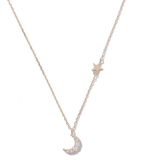 RayBEAMS月と星のゴールドネックレス-画像