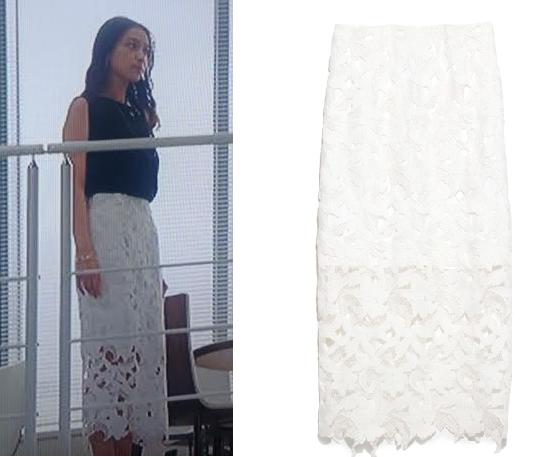 武井咲ドラマ着用白いスカートーせいせいするほど愛してる-画像