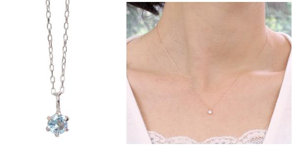 11月誕生石トパーズの一粒ネックレス-画像