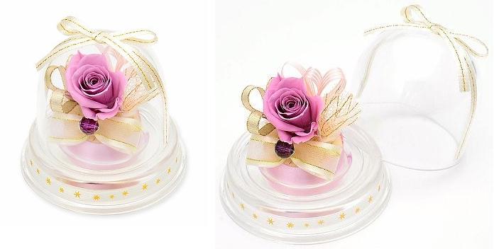 プレゼント用ミニドーム-2月誕生石アメジストー画像