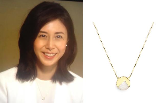 松嶋菜々子ドラマ着用乳白色のネックレス-画像