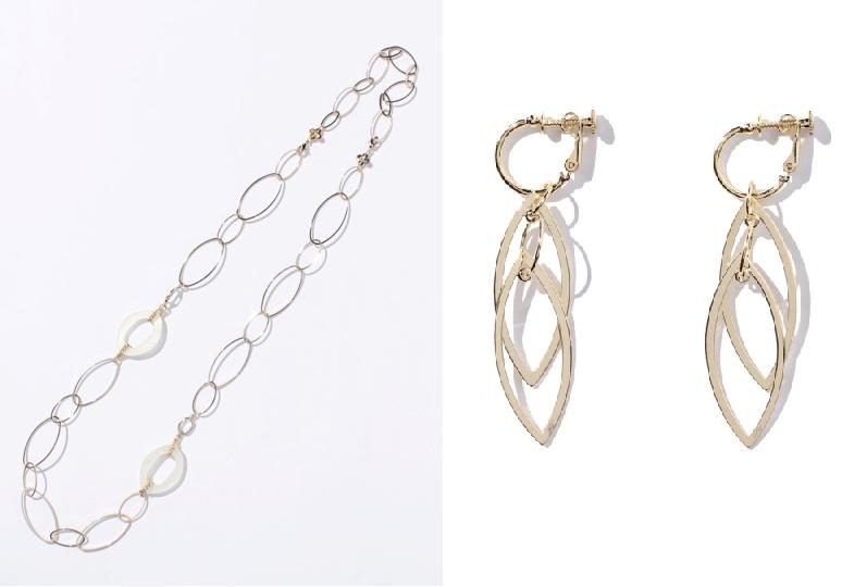 倉科カナ着用ブランド-プラス ヴァンドームのネックレスとイアリング-画像